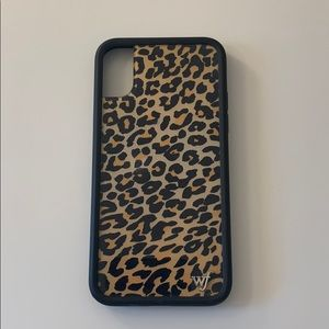 iphone x wildflower cheeta case